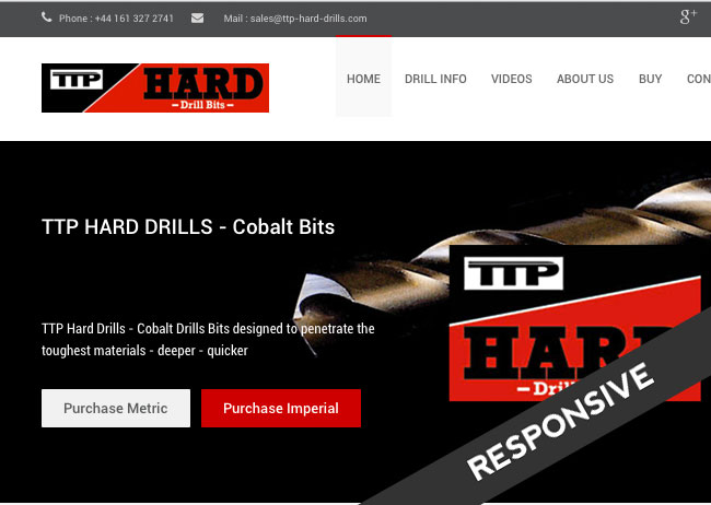 ecommerce website for ttp hard drills