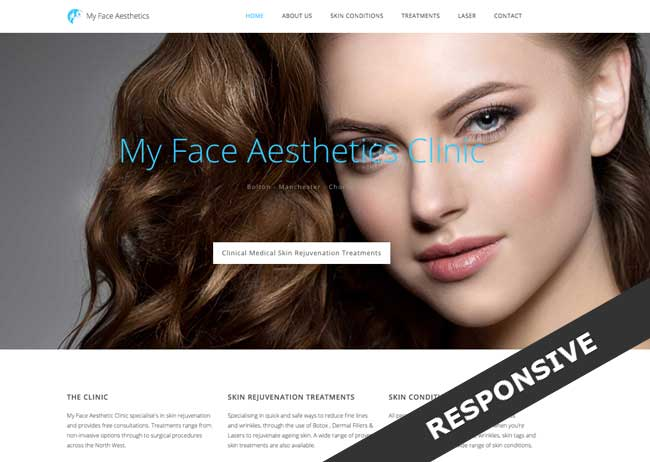 laser hair removal and skincare clinic my face Aesthetics new website and branding